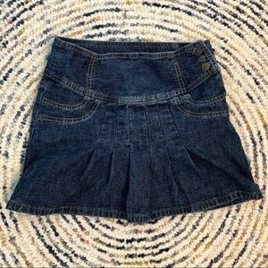 GAP pleated denim mini skirt